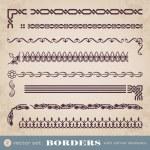 Borders with corner elements - set 2 — Stock Vector #35180057