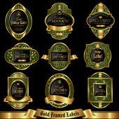 Gold framed labels set 5 — Stock Vector