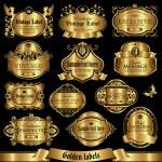 Golden labels set 1 — Stock Vector #43065005