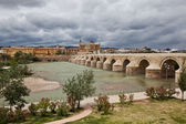 Roman bridge over the river Guadalquivir. Cordova. Spain — Stock Photo