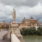 Roman bridge over the river Guadalquivir. Cordova. Spain — Stock Photo
