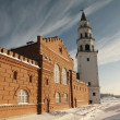 Nevyansk. Tower Demidova and Transfiguration Cathedral. — Stock Photo