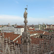 View from the roof of Milan Cathedral Duomskogo — Stock Photo