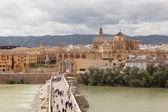Over the River Guadalquivir Old Bridge. Cordova. — Stock Photo