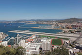 Gibraltar. View from the Rock of Gibraltar. — Stock Photo