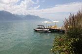 Geneva to Montreux ozero.Vid. — Stock Photo