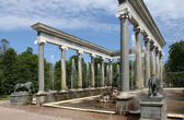 "Fountain ""Lion cascade"" lower park, Peterhof — Stock Photo"