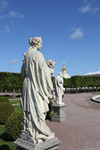 Sculpture park in the Upper Garden of Peterhof. — Stock Photo