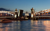 Bolsheokhtinsky bridge. St. Petersburg. — Stock Photo