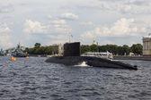 Ships on the Neva River. St. Petersburg. — Stock Photo