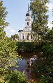 Kobona. regio Leningrad. Rusland. Kerk van st. nicholas. — Stockfoto