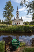 Kobona. Leningrad region. Russia. Church of St. Nicholas. — Stock Photo