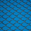 Metal mesh wire fence — Stock Photo