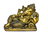 Golden Hindu God Ganesh — Stock Photo