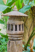 Lantern from old wood. — Stock Photo