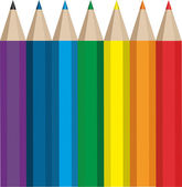 Colored pencils — Vettoriale Stock