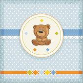 Baby card with teddy — Stock Vector