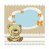 Children's background with bear — Stock Vector