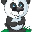 Stock Vector: Vector cartoon panda