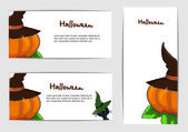 A set of cards for Halloween. Vector — Stock Vector