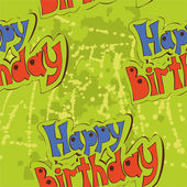 Pattern labeled a birthday — Stockvector