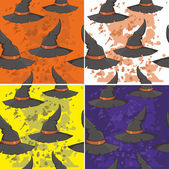 Pattern with a hat for Halloween — Stock Vector