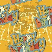 Pattern labeled Birthday retro — Stock Vector