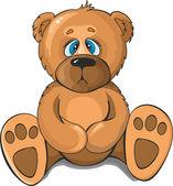 悲伤的熊 — 图库矢量图片