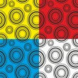 Pattern with circles on a bright background — Stock Vector