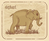 Painting of an elephant — Stock Vector