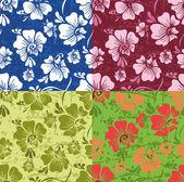 Mönster med stiliserade blommor — Stockvektor