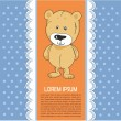 Baby card with teddy — Stock Vector