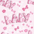 Pattern for newborn girl — Imagen vectorial