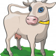 Cow on the white background — Stock Vector