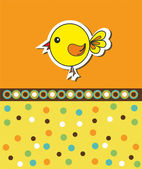 Pattern with a little chicken — Stock Vector