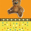 Card with teddy bear — Stock Vector #34643453