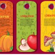 Autumn labels — Stock Vector
