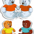 A set of bears. — Stock Vector
