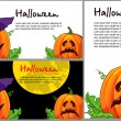A set of cards for Halloween — Imagen vectorial