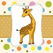 Baby card with giraffe and mugs — Grafika wektorowa