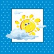 Baby card with sun and clouds — Image vectorielle