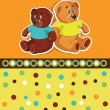 Stock Vector: Card with teddy bears