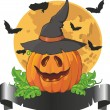 Pumpkin hat for Halloween — Stock Vector