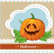 Card with a pumpkin for Halloween. — Stock Vector #34645411