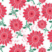 Pattern with a stylized flower — Stock Vector