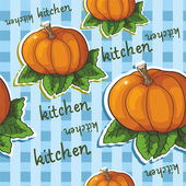 Pattern with pumpkin — Vecteur