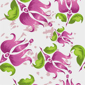Pattern with stylized pink flower — Stock Vector