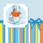Teddy bear for baby boy — Stock Vector