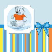 Teddy bear for baby boy — Stock Vector
