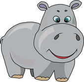 Cheerful Hippo — Stock Vector
